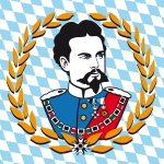 Koenig Ludwig II / Rautenmuster für Buttons Anst