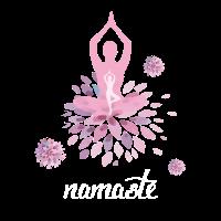 Namaste Yoga Meditation Übung atmen Gefühl pink lo