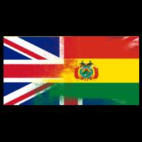 Britische bolivianische Hälfte Bolivien Halb UK Flagge