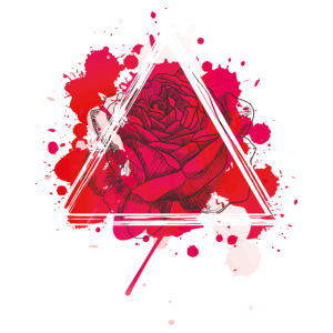Rote Rose Triangel