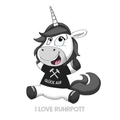 Potthorn - I LOVE RUHRPOTT - Witten,Ruhrpott,Ruhrgebiet,Recklinghausen,Love,I love Ruhrpott,Herten,Herne,Essen,Einhorn,Duisburg,Dortmund,Castrop,Bochum