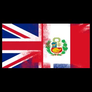 Britisch peruanisch Peru Halbhalb UK Flagge