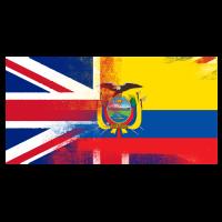 Britische ecuadorianischen Halb Ecuador Halb UK Flagge