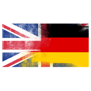 Britisches Deutsch Deutschland Halbhalb UK Flagge