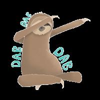 Dabbing Sloth Faultier Lazy Dab Dance Shirt