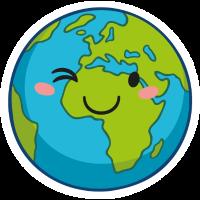Erde mit Gesicht