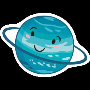 Uranus mit Gesicht