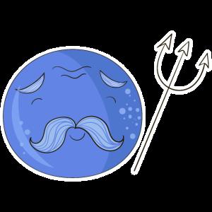 Neptun mit Gesicht