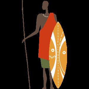 Afrikanischer Krieger