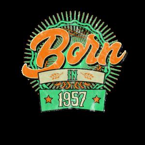 Born in 1957 Geburtstag Jahrgang Baujahr Geschenk