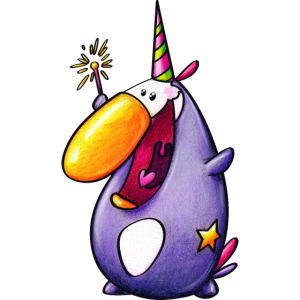 magischer pinguin