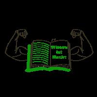 Strichzeichnung Wissen ist Macht