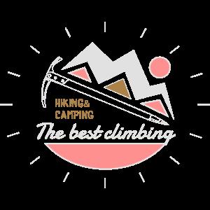 Wandern Klettern Emblem