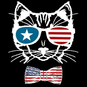 Meowica 4. Juli Lustige Katze
