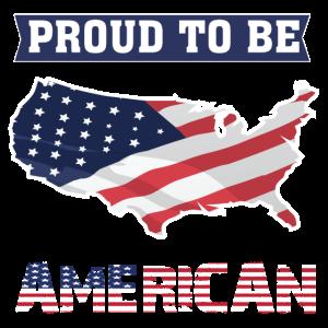 Stolz, amerikanisches T-Stück zu sein