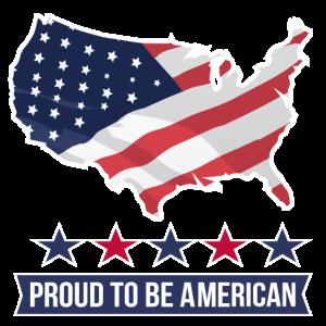 Stolz, amerikanisches T-Shirt zu sein