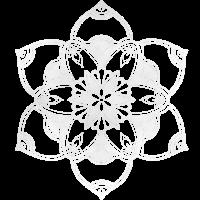 Mandala No. 2 wolkig weiß