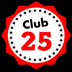 Club 25 Geschenk für 25 Jährige