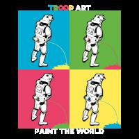Troop Art - Stormtrooper auf Pop-Art Party