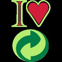 Ich liebe grün und Ökologie
