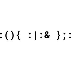Bash Fork Bomb Schwarz - Unix/Linux Hacker Design