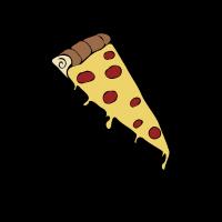 Pizza Scheibe Zeichnung