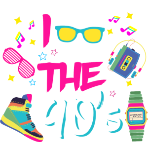 I Love the 90s/Neunziger/Mottoparty/Retro/Party