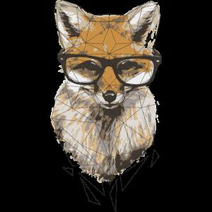 geometric hipster fox