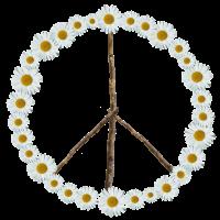 Peace-Zeichen aus Blumen