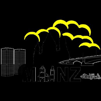 Mainz gelb - Mainz mit den Bonifatiustürmen, dem Dom und der Theodor-Heuss-Brücke. - Rheinland,Rheinhessen,Pfalz,Moguncia,Mainz