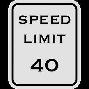 Verkehrszeichen Geschwindigkeitsbegrenzung 40