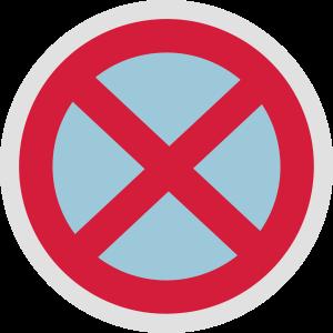 Kein Parkschild