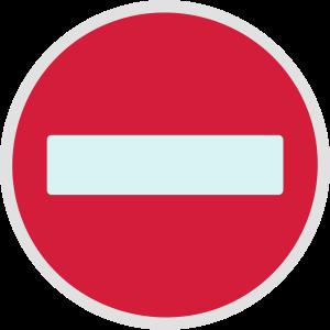 Oneway zeichen