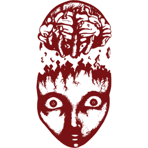 harte rotes Gehirn