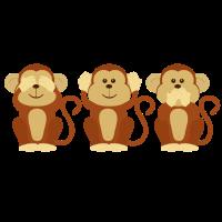 Drei Affen: Three Monkeys
