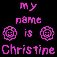 CHRISTINE MEIN NAME