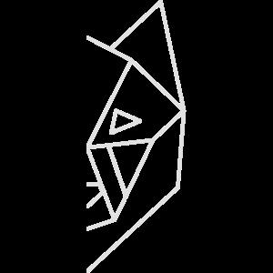 wolf geometric half face