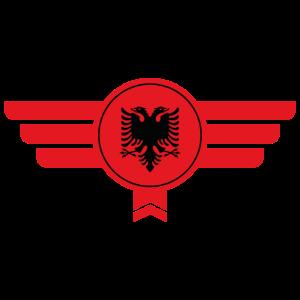 Albanien Emblem Flagge