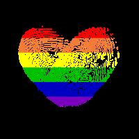 Gay - Herz - Fingerabdruck