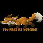 Fuchs ist wuschig