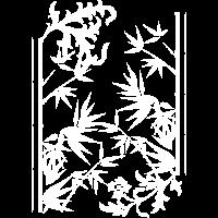 Blumen Bambus wite
