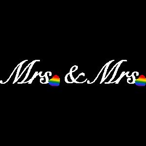 Mrs&Mrs Design weiß für lesbische Paare