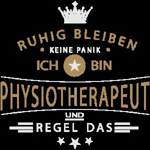 Physiotherapeut T-Shirt Ruhig bleiben