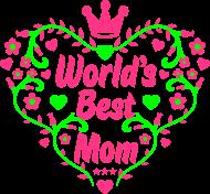 Muttertag Shirt: worlds best mom muttertag mutti mama beste geschenk mothers day