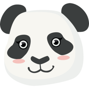 Nettes Panda Gesicht