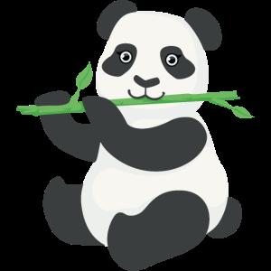 Netter Panda, der Bambus isst