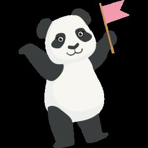 Nette Panda-Flagge