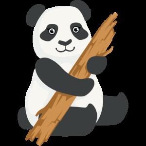 Nettes Panda Holz