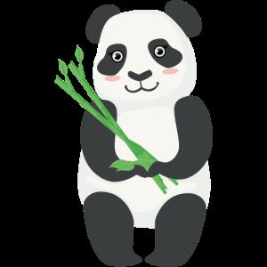 Netter Panda Bambus
