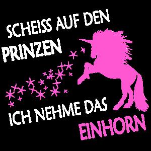 Einhorn statt Prinz pink